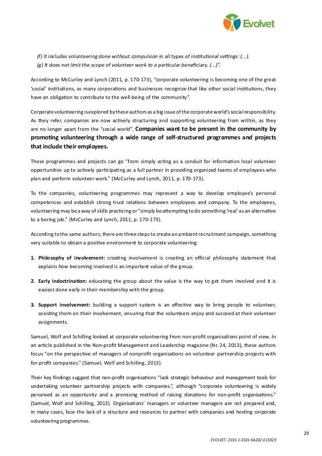 EVOLVET- 2015-1-ES01-KA202-015929 29 Evolvet (f) It includes volunteering done without compulsion in all types of institut...