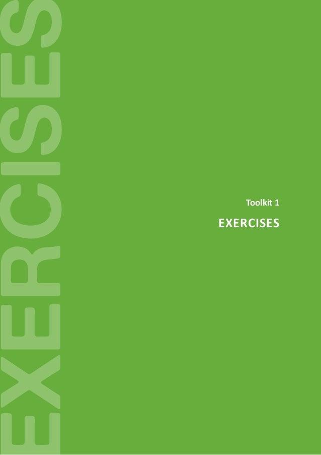 EVOLVET- 2015-1-ES01-KA202-015929 35 Evolvet XERCISE Toolkit 1 Exercises