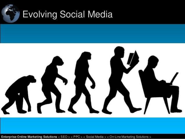 Evolving Social Media  1 Enterprise Online Marketing Solutions < SEO > < PPC > < Social Media > < On-Line Marketing Soluti...