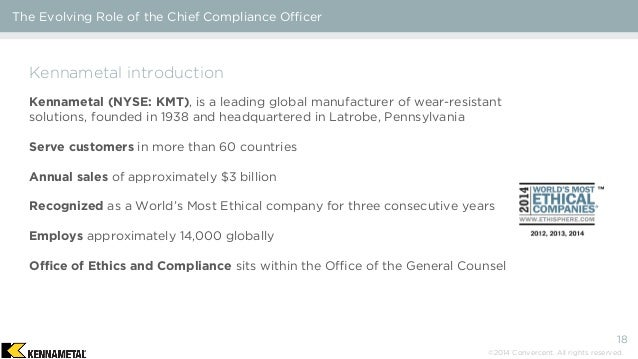 The evolving role of the chief compliance officer - Qualifications for compliance officer ...