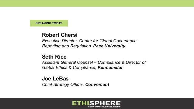 The evolving role of the chief compliance officer - Ethics compliance officer ...
