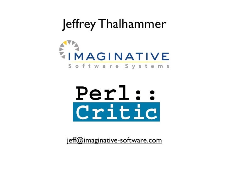 Jeffrey Thalhammer   S o f t w a r e   S y s t e m s     jeff@imaginative-software.com