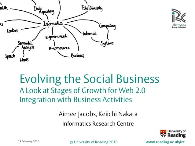 Evolving the Social Business A Look at Stages of Growth for Web 2.0 Integration with Business Activities                  ...