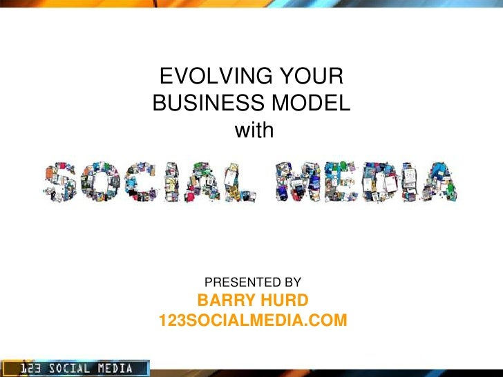 EVOLVING YOUR BUSINESS MODEL       with         PRESENTED BY     BARRY HURD 123SOCIALMEDIA.COM