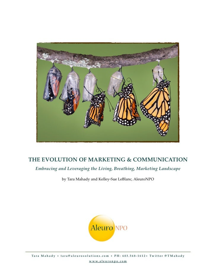 THE EVOLUTION OF MARKETING & COMMUNICATION    Embracing and Leveraging the Living, Breathing, Marketing Landscape         ...