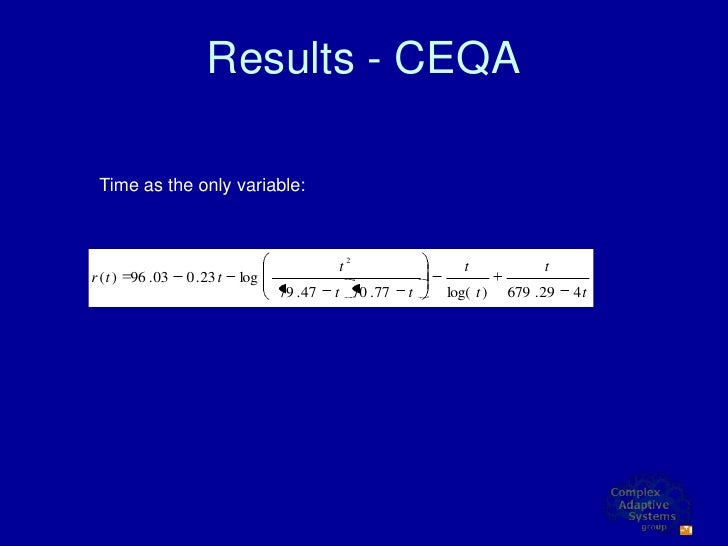 Results - CEQA   Time as the only variable:                                                    2                          ...
