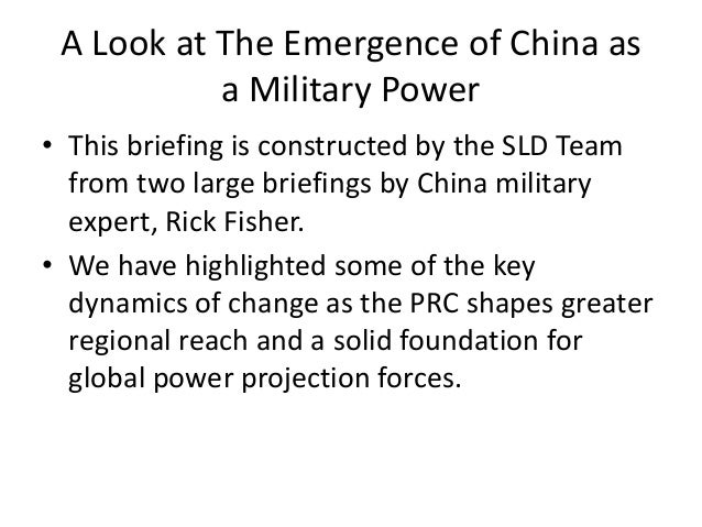 Evolving PRC Military Capabilities Slide 2