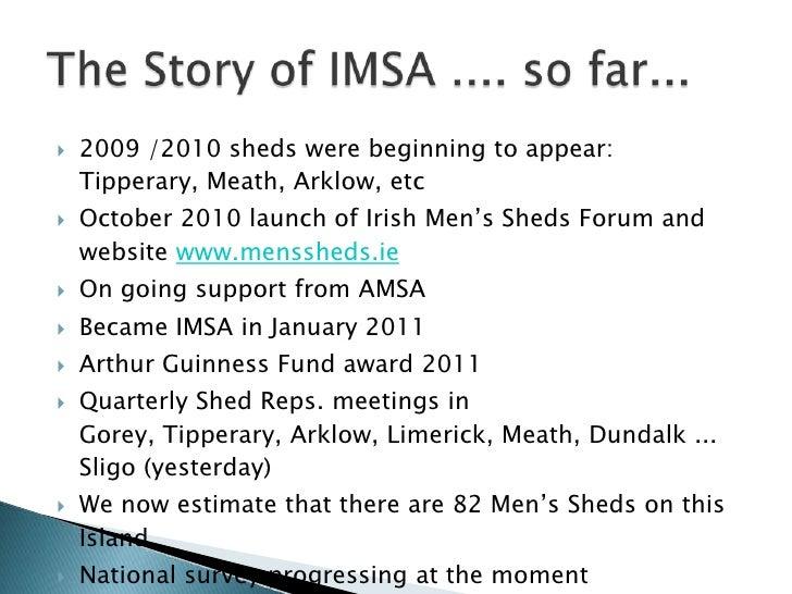 Irish Mens Sheds Association - Replicating Success in ...