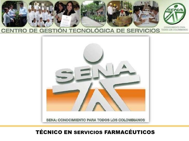 TÉCNICO EN SERVICIOS FARMACÉUTICOS<br />