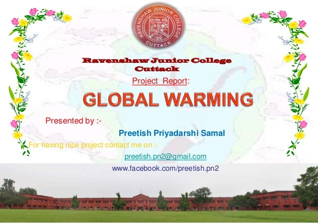 Global warming (EVS Project)