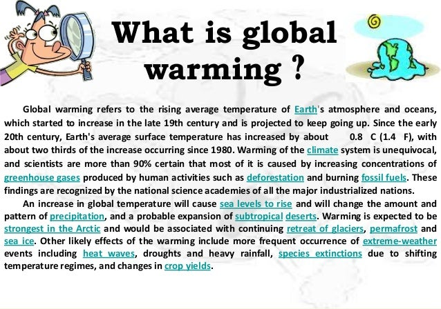 review of literature of global warming project