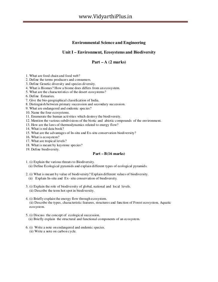 www.VidyarthiPlus.in                                  Environmental Science and Engineering                          Unit ...