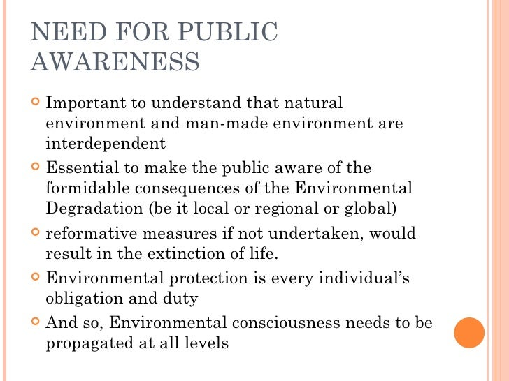 study of public awareness about environment