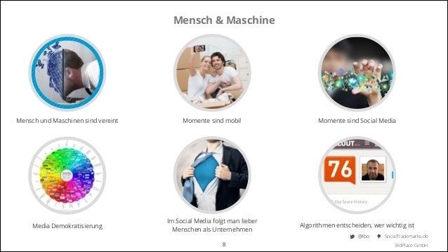 Mensch & Maschine  Mensch und Maschinen sind vereint  Momente sind mobil  Momente sind Social Media  Media Demokratisierun...