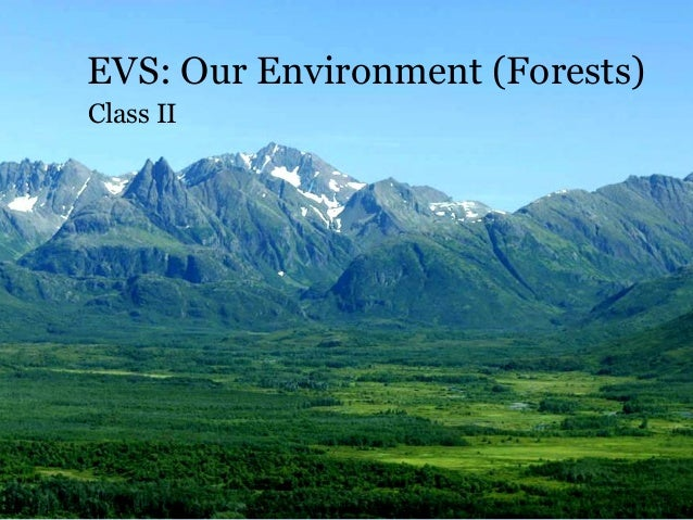 EVS: Our Environment (Forests) Class II