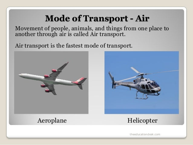 Environmental Science (EVS) : Travel And Transport (Class I