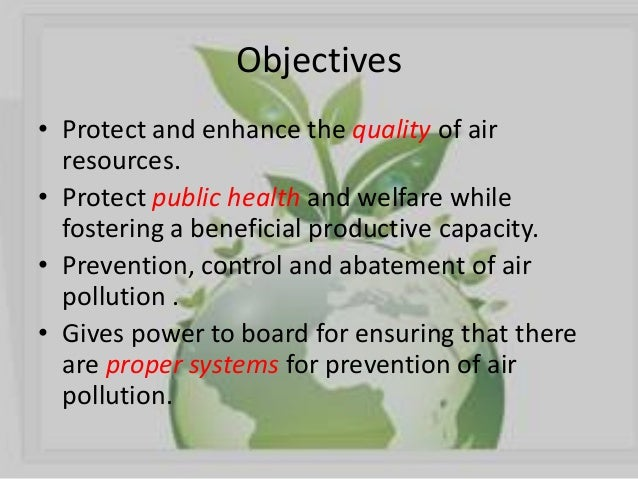 objectives of environmental protection act 1986