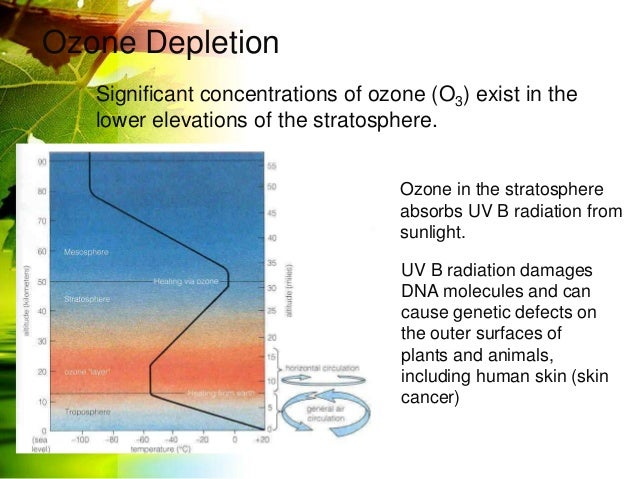 Climate Change Global Warming Ozone Layer Depletion Nuclear Accident