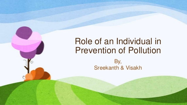Role of individual in prevention of pollution essay
