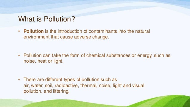 an introduction to the problem of pollution of detroit waterways Ways to fight pollution essays and research papers  pollution is the introduction of contaminants into the natural  the problem of pollution is all the more .