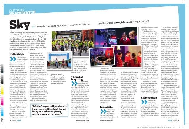 Event Magazine MAY 2013 - SKY Brandwatch - Event Activity