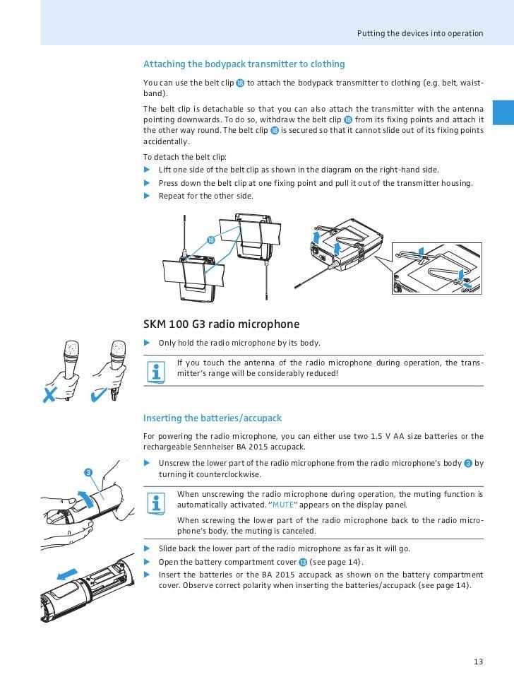 Sennheiser Ew 100 G3 Manual Manual Guide