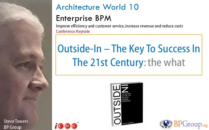 Architecture World 10                Enterprise BPM                Improve efficiency and customer service, increase reven...