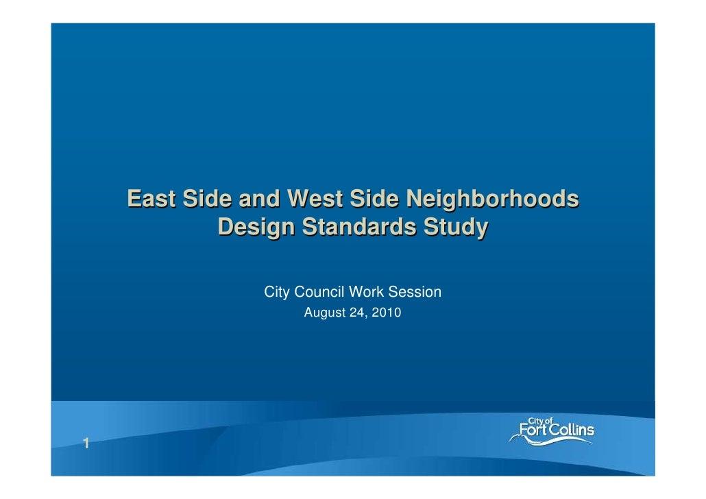 Eastside and Westside Neighborhoods Design Standards Study