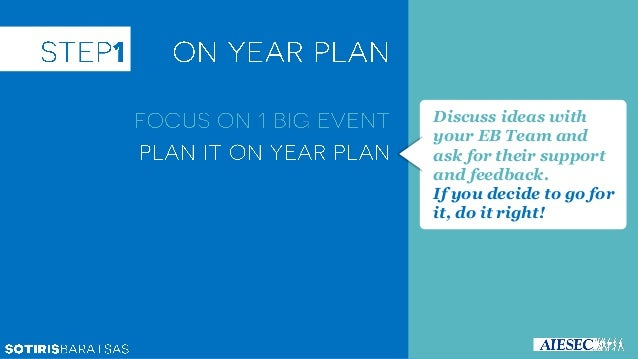 If you can't find a reason to do the event (i.e. to support the performance of ELD programs), you don't have to do it! You...