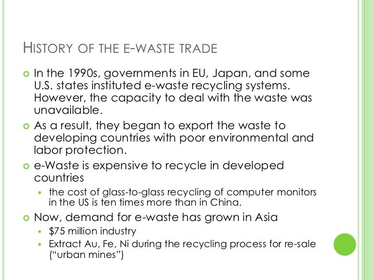 History of the e-waste ...