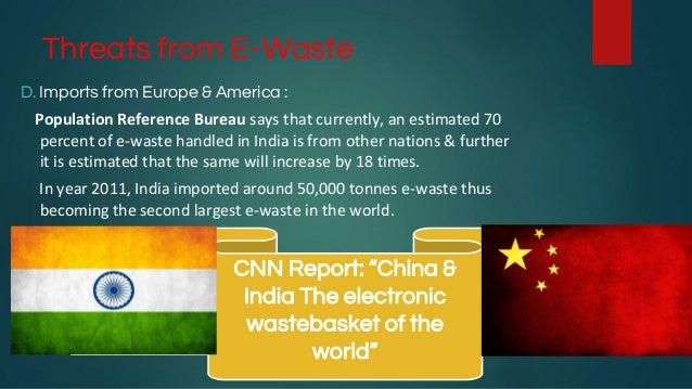 impacts of e waste on the world Get the disturbing electronic waste facts here and get an idea of the devastating effects of e-waste of samples taken from two electronic waste (e-waste.