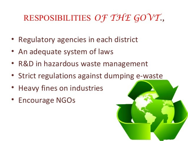Waste Management Ppt Waste Management Powerpoint Template Slide