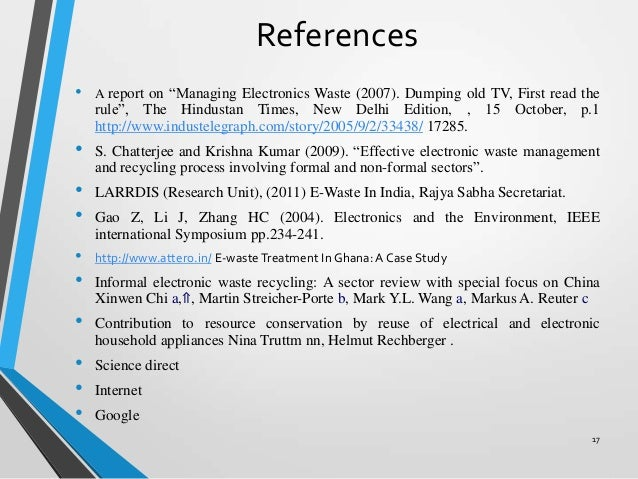 E-Waste Essays (Examples)