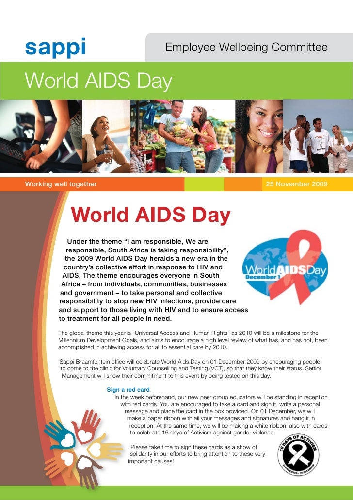 sappi                                                Employee Wellbeing Committee   World AIDS Day    Working well togethe...