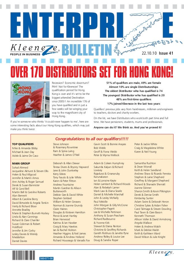BULLETIN 560-071-08 22.10.10 Issue 41 MAIN GROUP Sohail Ahmed Jacqueline Akhurst & Steven Ellis Helen & Paul Allgood Jenni...