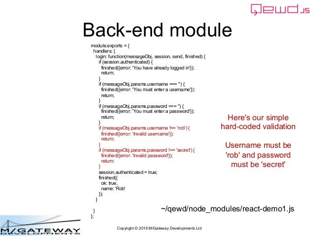 EWD 3 Training Course Part 41: Building a React js