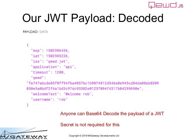 EWD 3 Training Course Part 43: Using JSON Web Tokens with