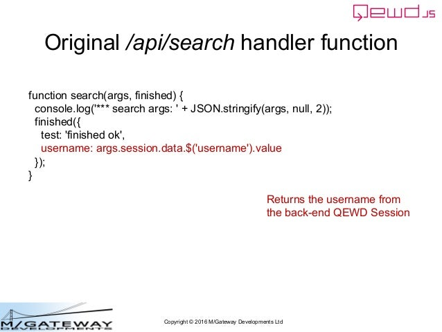 Copyright © 2016 M/Gateway Developments Ltd Original /api/search handler function function search(args, finished) { consol...