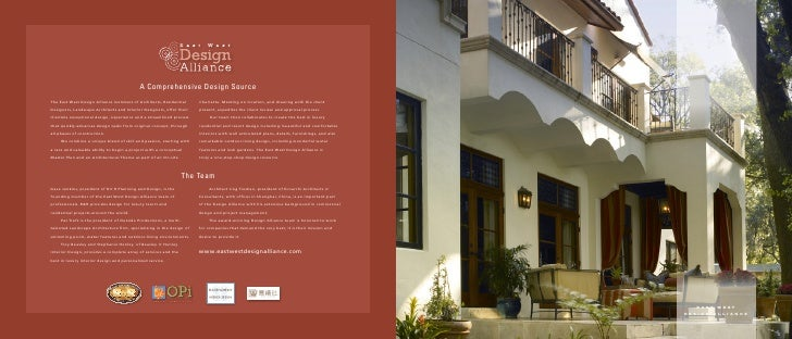 A Comprehensive Design Source The East West Design Alliance members of Architects, Residential       Charrette. Meeting on...