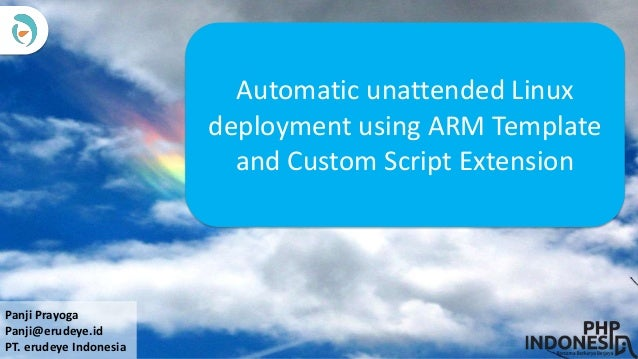 Panji automatic unattended linux deployment using arm