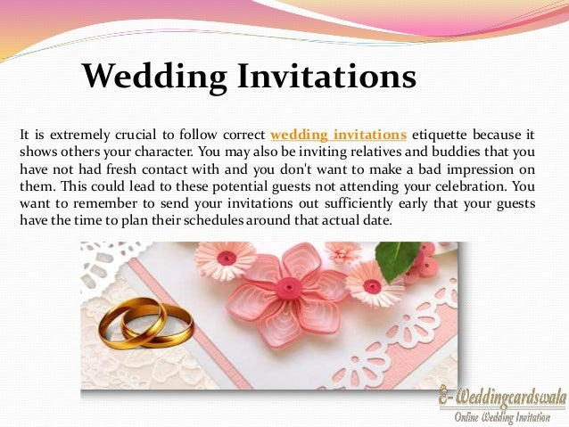 2. It Is Extremely Crucial To Follow Correct Wedding Invitations ...