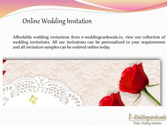 Traditional Ways Of Sending Wedding Cards; 4. Online Wedding Invitation ...