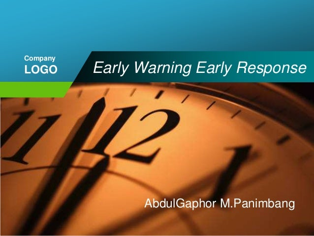 CompanyLOGO      Early Warning Early Response                AbdulGaphor M.Panimbang
