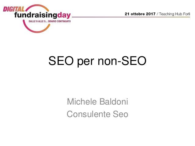SEO per non-SEO Michele Baldoni Consulente Seo