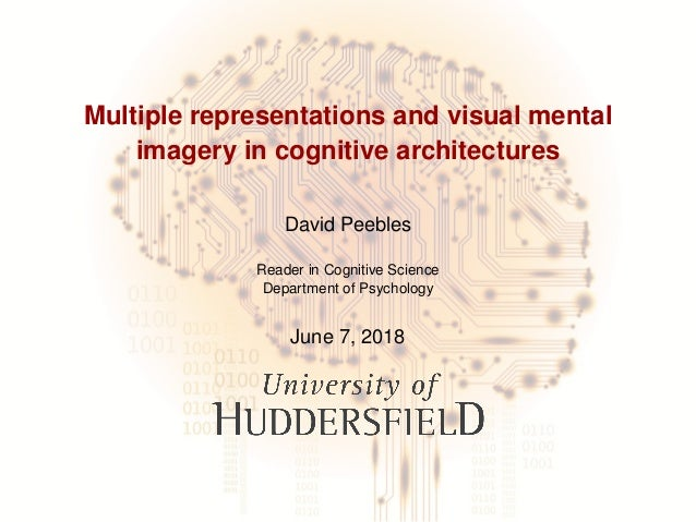 Multiple representations and visual mental imagery in cognitive architectures David Peebles Reader in Cognitive Science De...