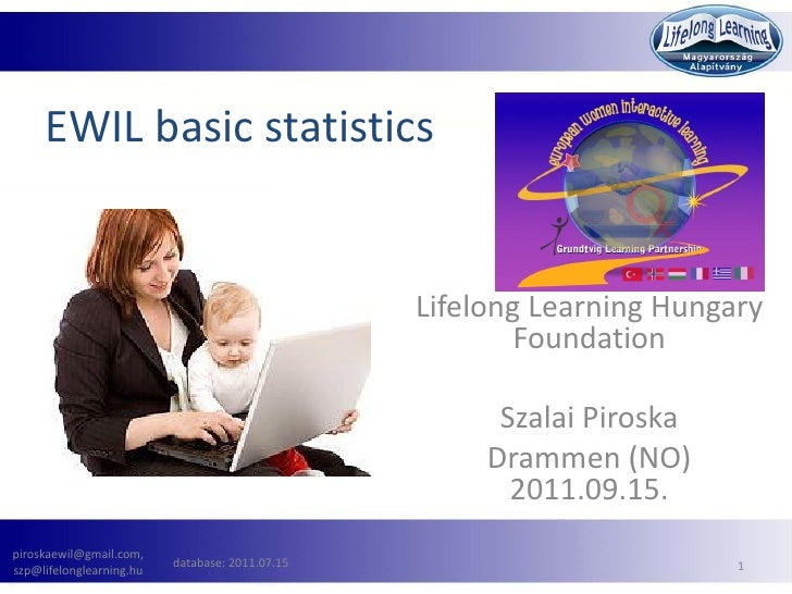 EWIL basic statistics                                                 Lifelong Learning Hungary                           ...