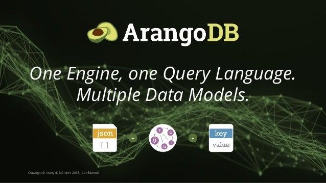 Copyright © ArangoDB GmbH, 2018 - Confidential One Engine, one Query Language. Multiple Data Models.
