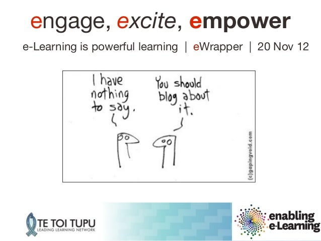 engage, excite, empowere-Learning is powerful learning | eWrapper | 20 Nov 12                                          www...