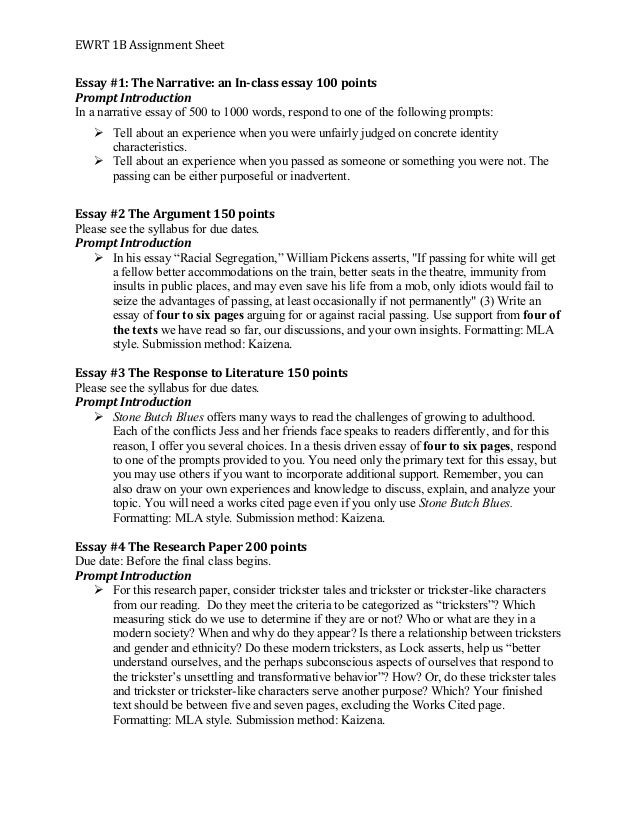 What Is The Thesis Statement In The Essay  High School Dropout Essay also Thesis Examples In Essays Narrative Essay Assignment Sheet  Personal Narrative Essay  Photosynthesis Essay