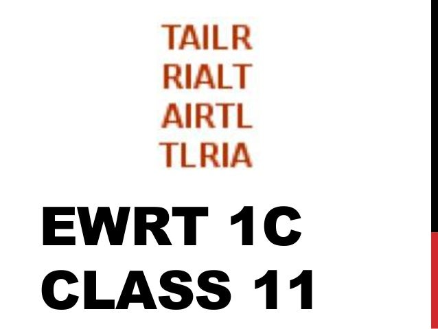 EWRT 1C CLASS 11